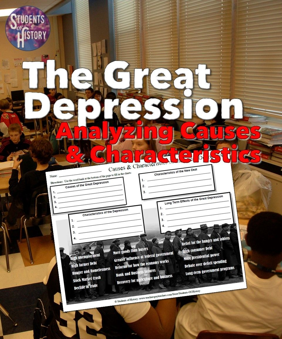 Nice Worksheet On The Great Depression To Help Students Analyze