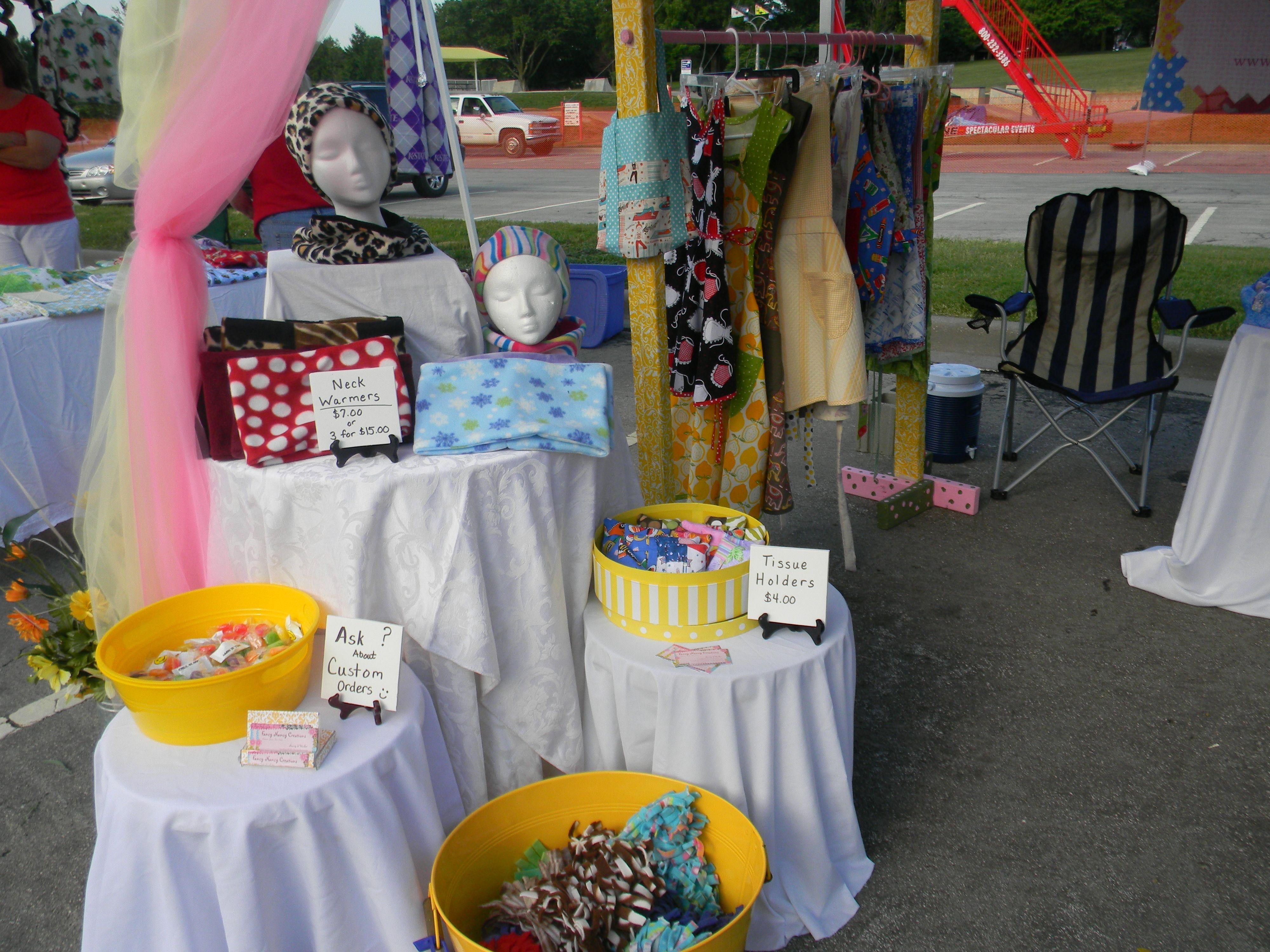 Craft Fair Booth Tent Display Ideas