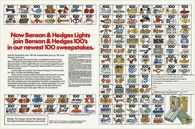 Benson and hedges 100 sweepstakes
