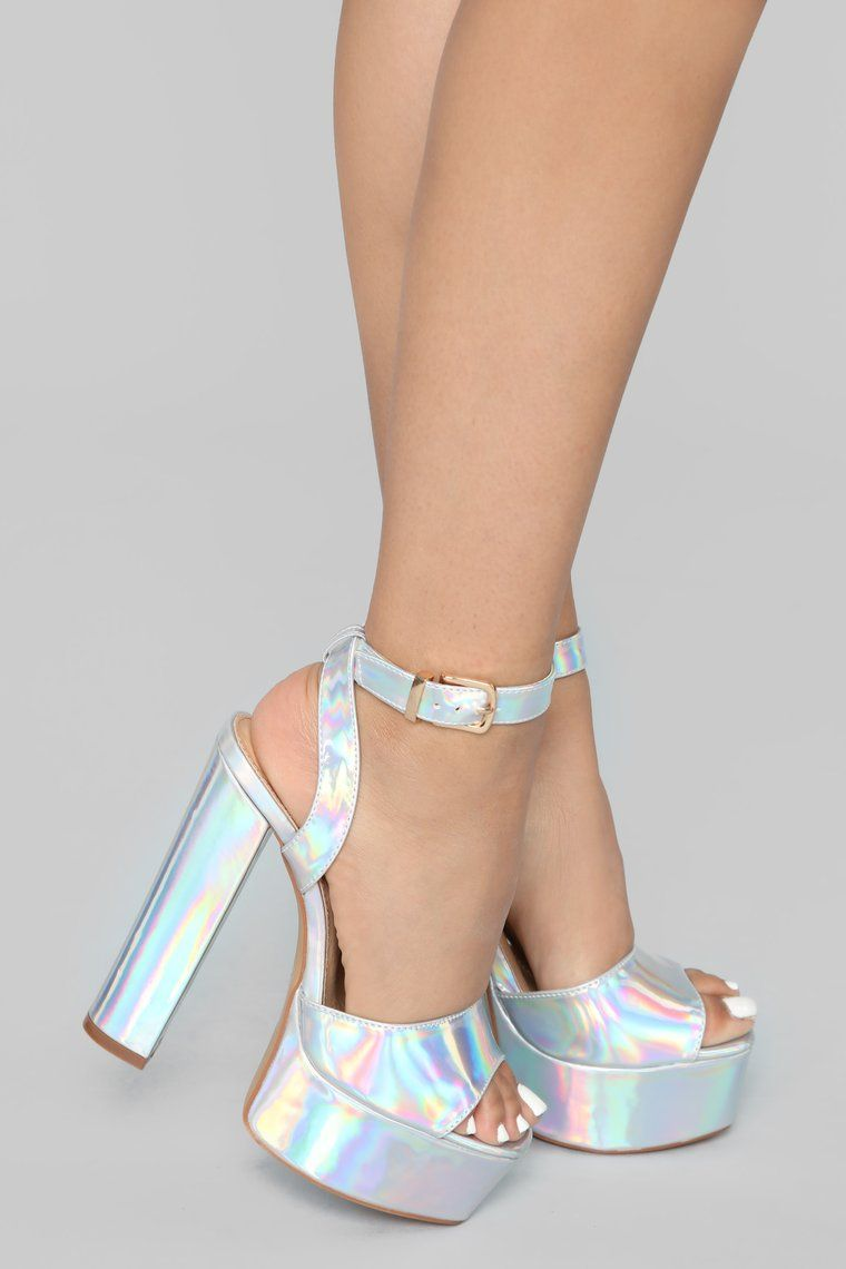 025aed2575d1 I Know I Can Heel - Silver Iridescent in 2019