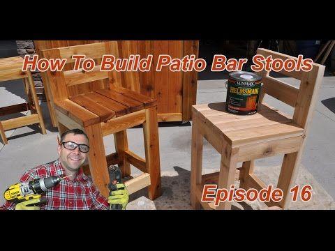 Video Tutorial How To Build Patio Bar Stools Diy Stool