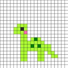 pixel art dinosaure