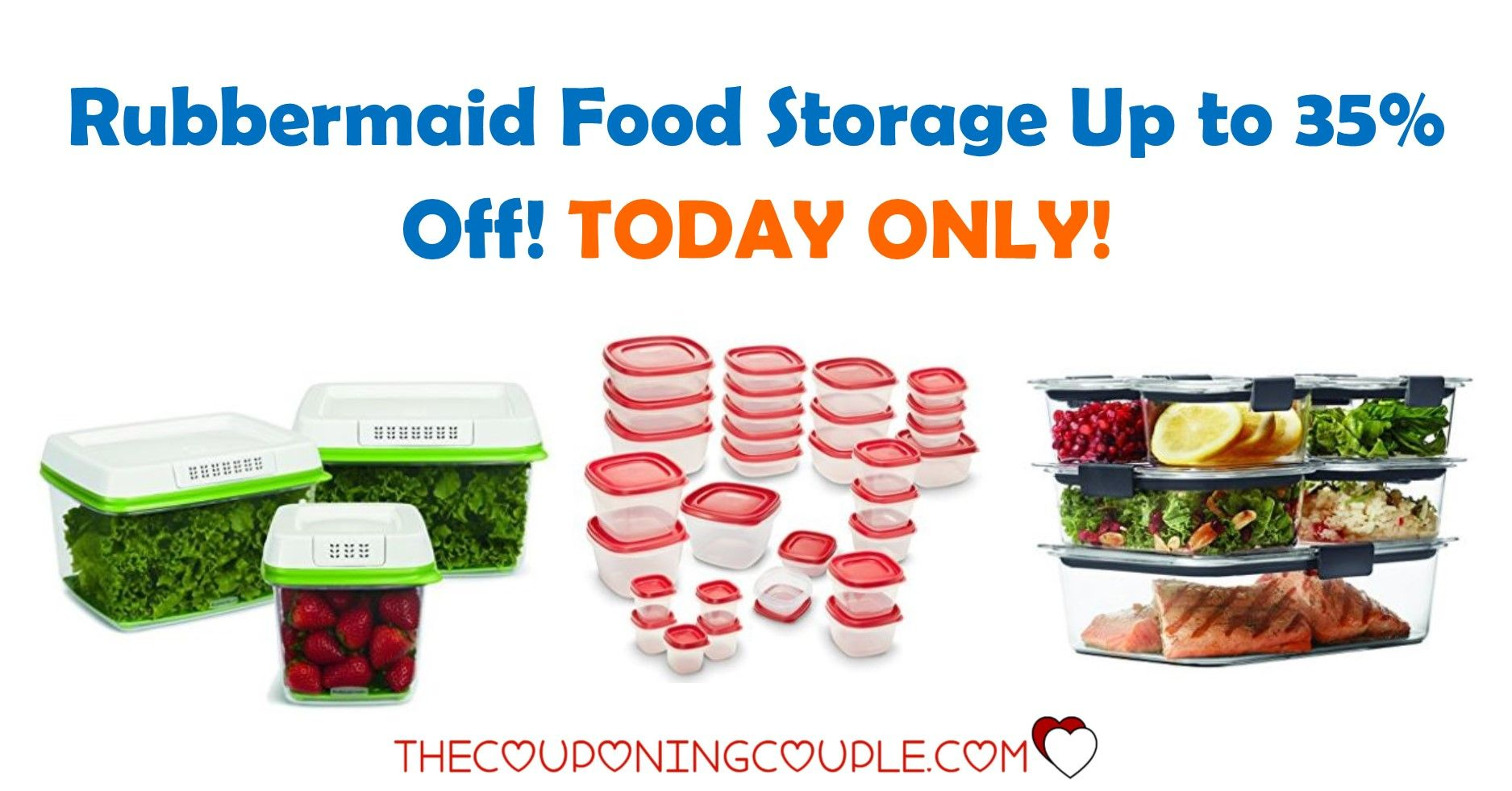WOO HOO Rubbermaid Food Storage Up to 35 Off Food storage