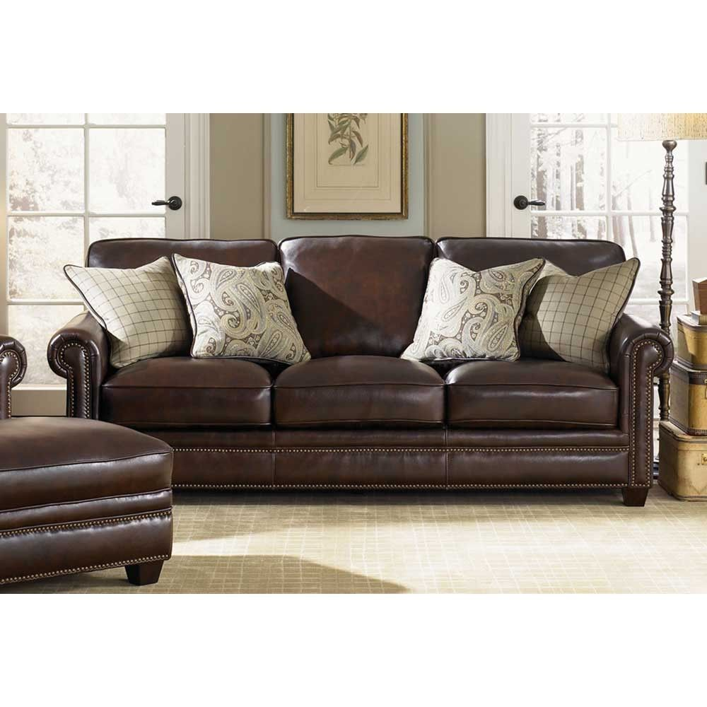 With Exquisite Antique Espresso Solid Wood Legs And Soft Top Grain