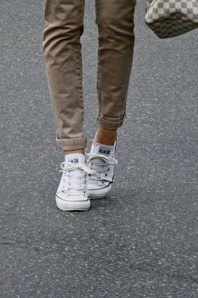 converses blanche homme