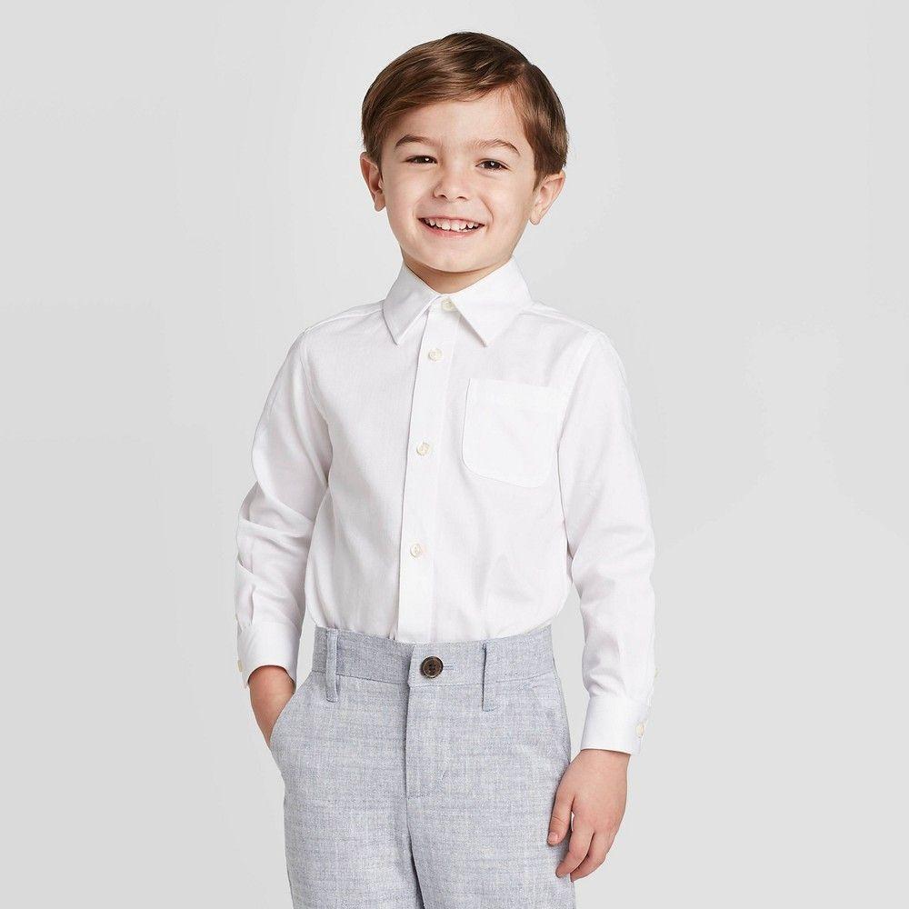 Toddler Boys Long Sleeve Button Down Shirt Cat Jack White 4t In 2021 Boys Long Sleeve Long Sleeve Shirt Dress Trendy Blouse Designs [ 1000 x 1000 Pixel ]
