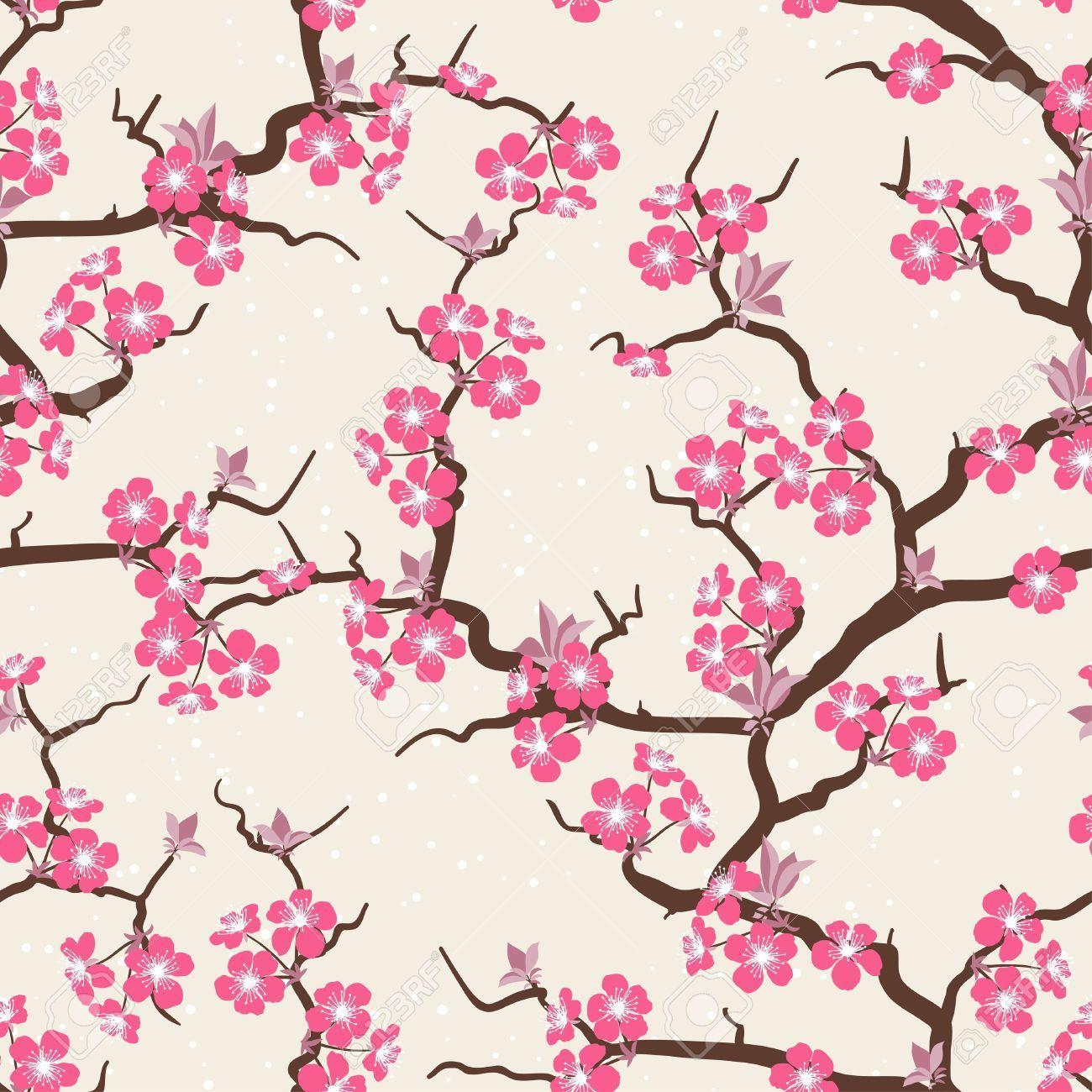 Motif Japonais Fleur Cerisier Recherche Google Zengxueming