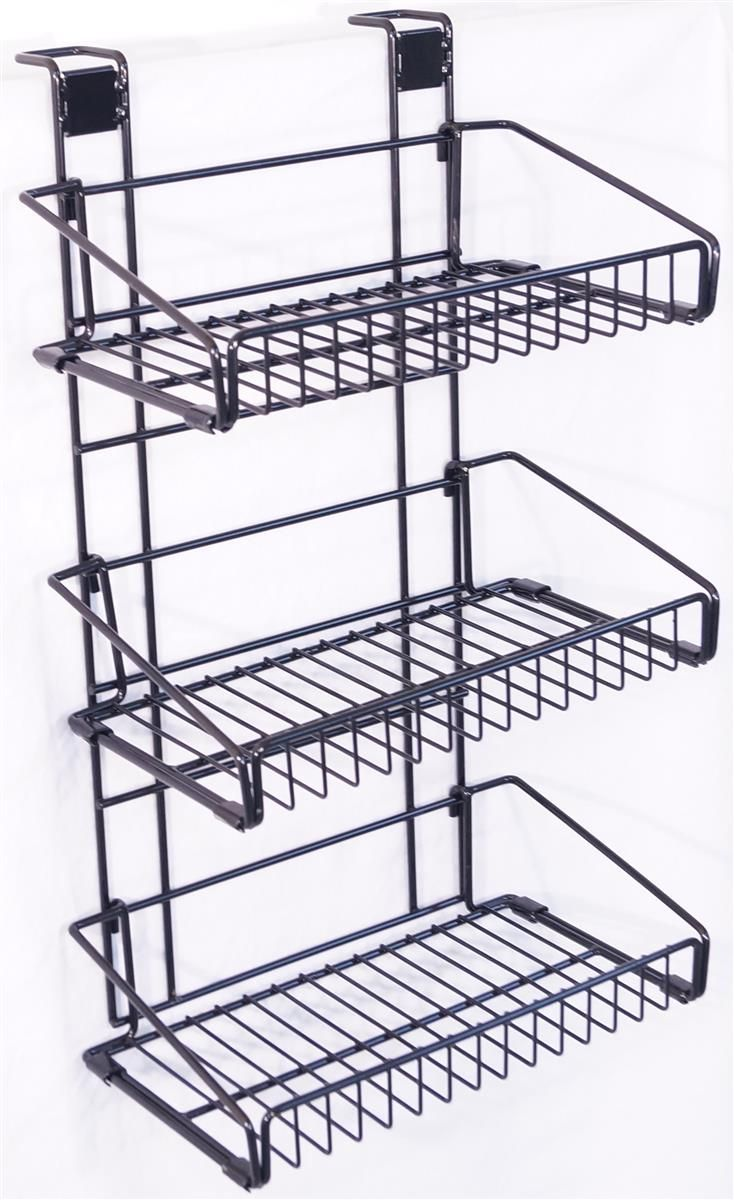 Magnetic Wire Basket, Attaches to Open Air Coolers, 3 Open Shelves ...