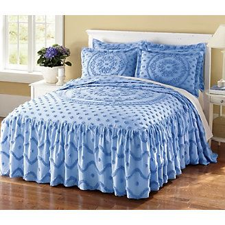 blue chenille bedspread chenille pinterest. Black Bedroom Furniture Sets. Home Design Ideas