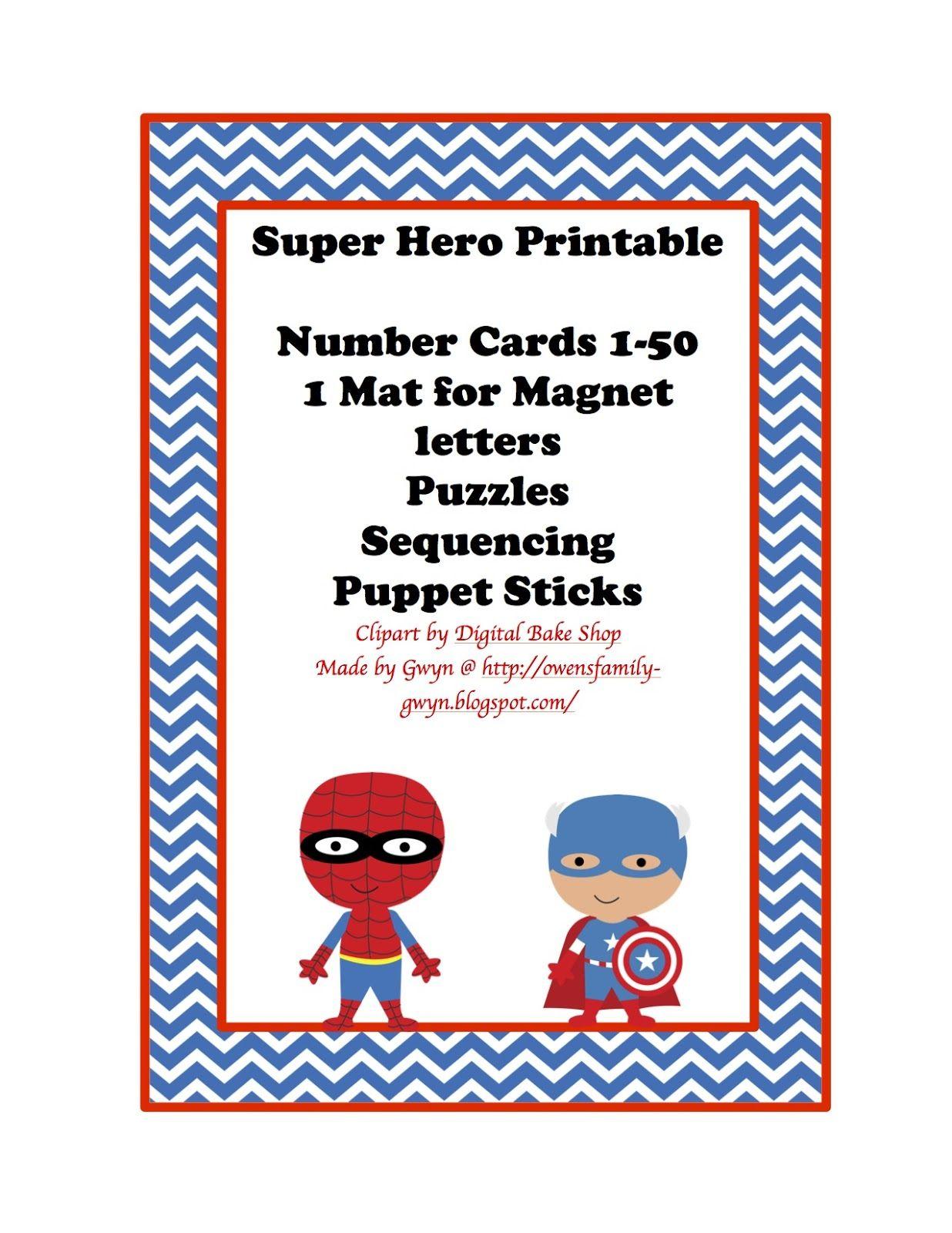 Super Hero Printable 2