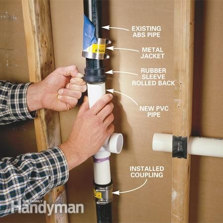 how to fix a bad pvc abs joint