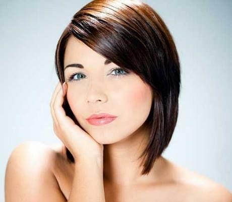 Moderne Kurzhaarschnitte Fur Runde Gesichter Frisuren Pinterest