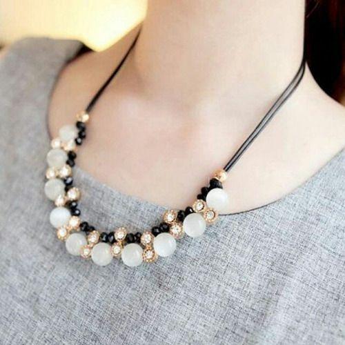Multicolored Opal Choker Necklace.