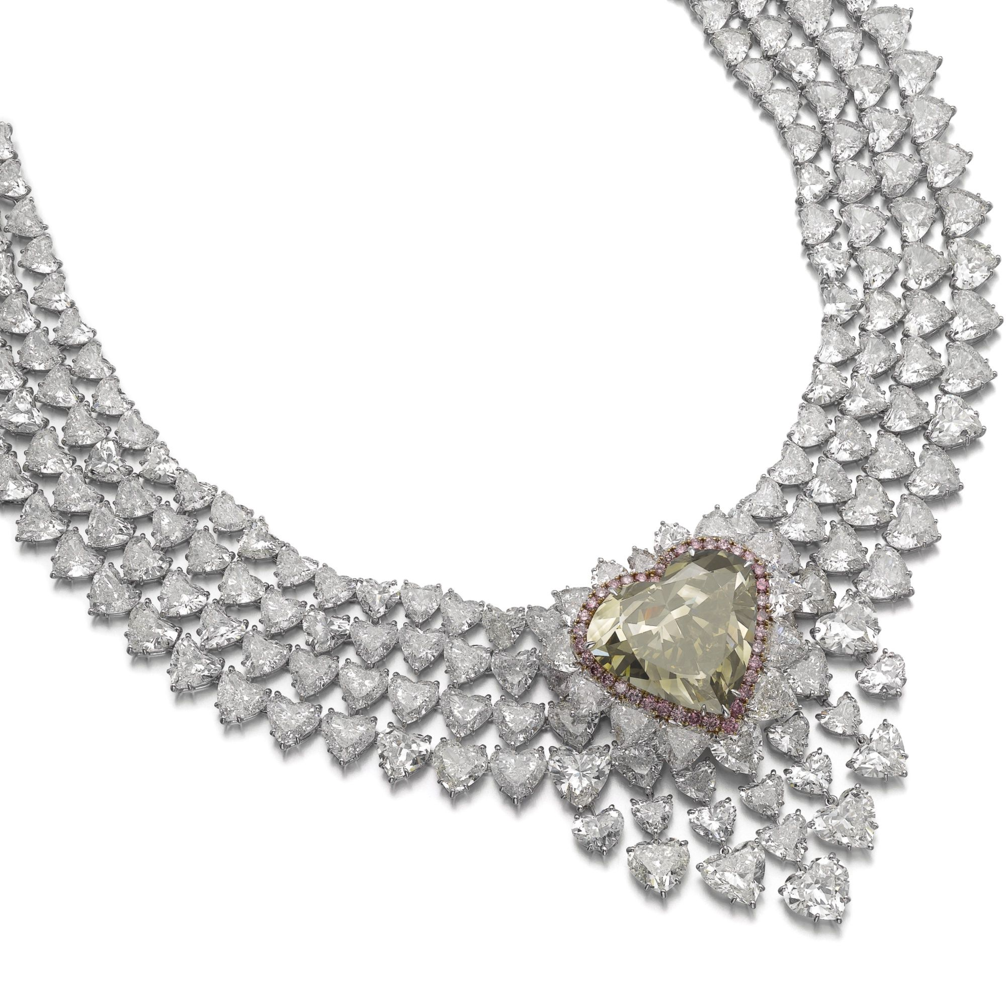 shirin product oval sample link necklace diamond fancy