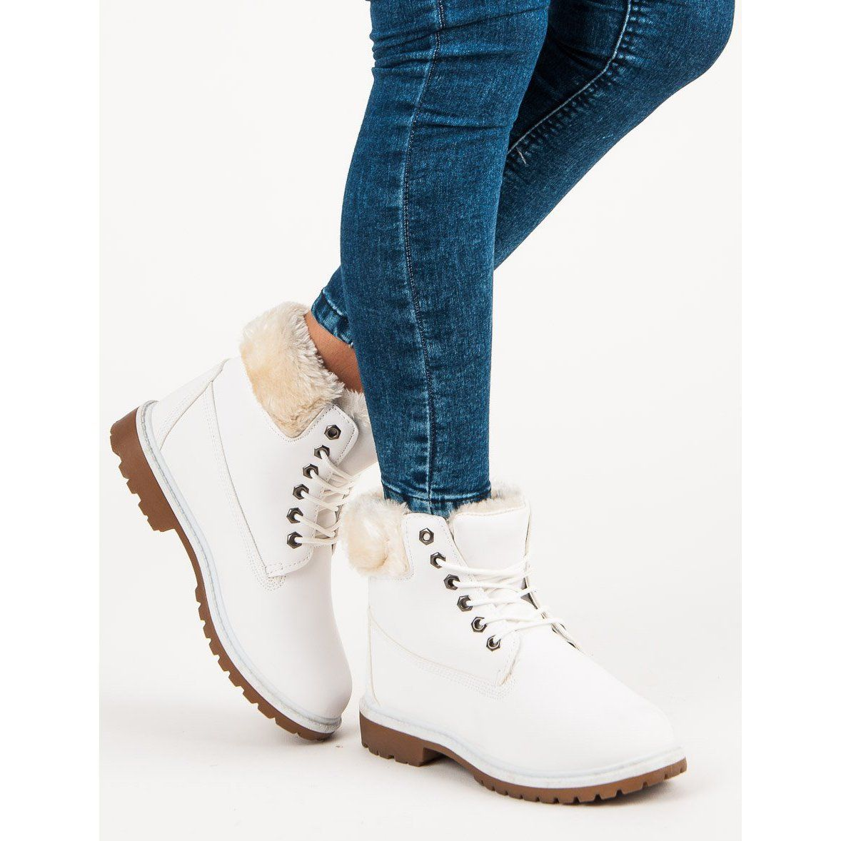 Seastar Zgrabne Traperki Biale Boots Timberland Boots Shoes