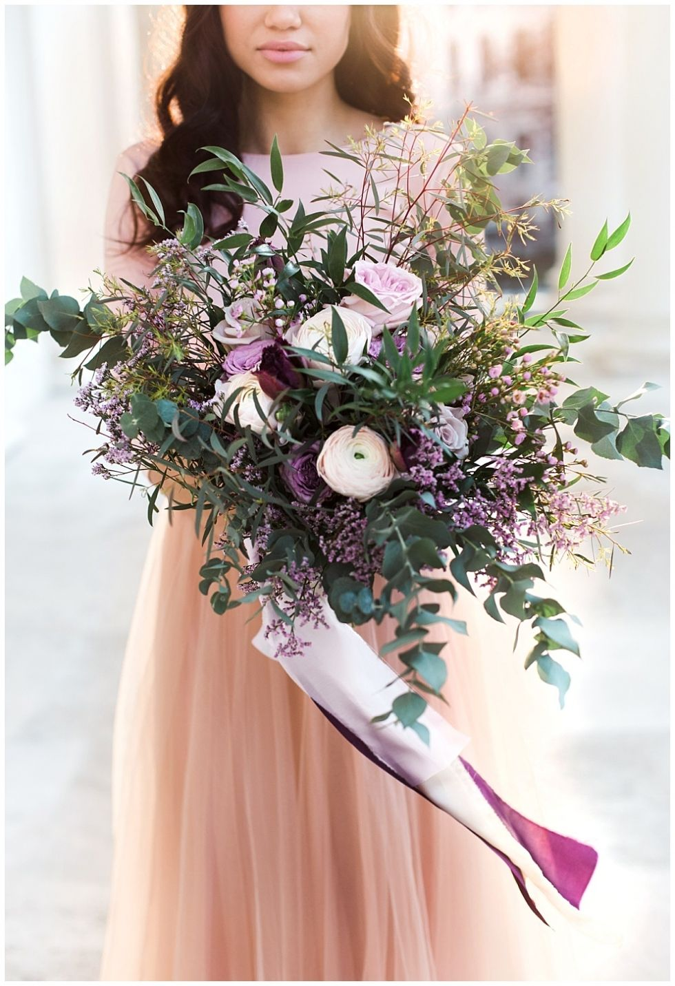 Fine Art Wedding Wedding Cake Lilac Blush Rose Vienna Bridal