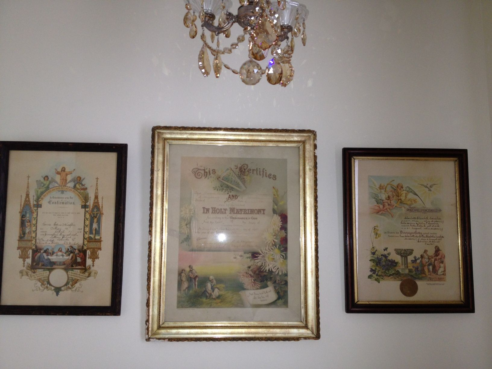 Vintage birth, baptismal and marriage certificates from ...