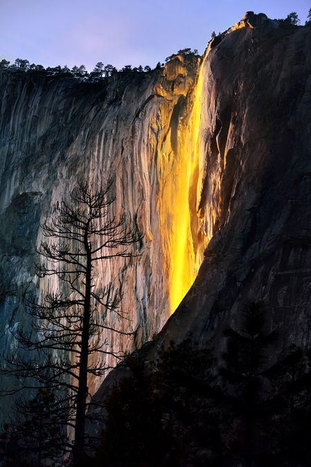 YOSEMITE NATIONAL PARK |   FIRE FALLS  Photo by Jeff Berkes -- National Geographic Your Shot