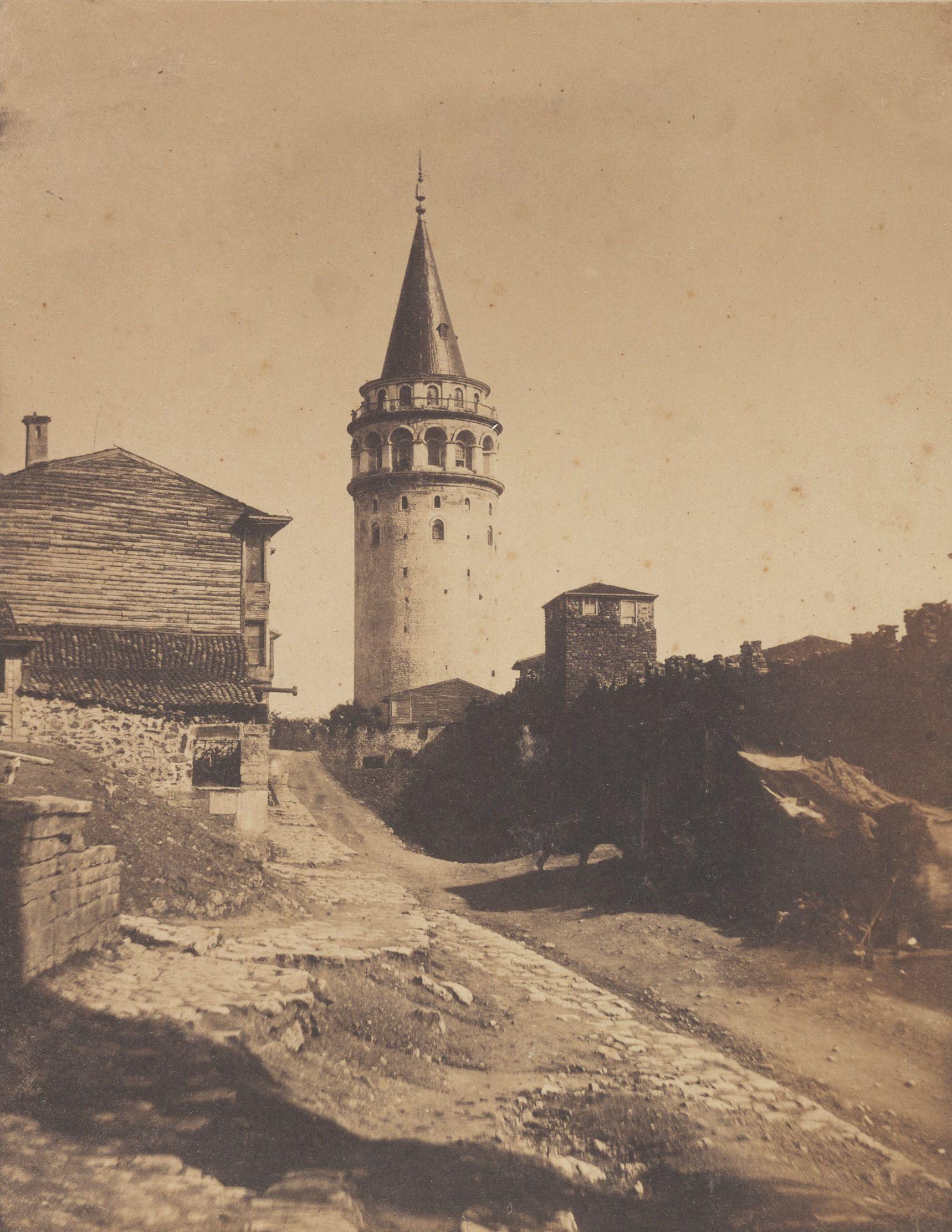 galata kulesi ernest de caranza fotografi 1854 eski istanbul fotograflari arsivi istanbul fotograf mimari fotografcilik