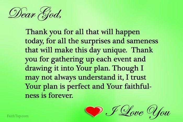 Dear God, Life Lessons