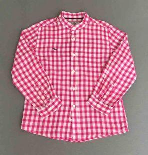 085839b9bfa5 Mayoral. Camisa rosa de cuadros cuello mao   VESTIDOS PARA NIÑAS Y ...