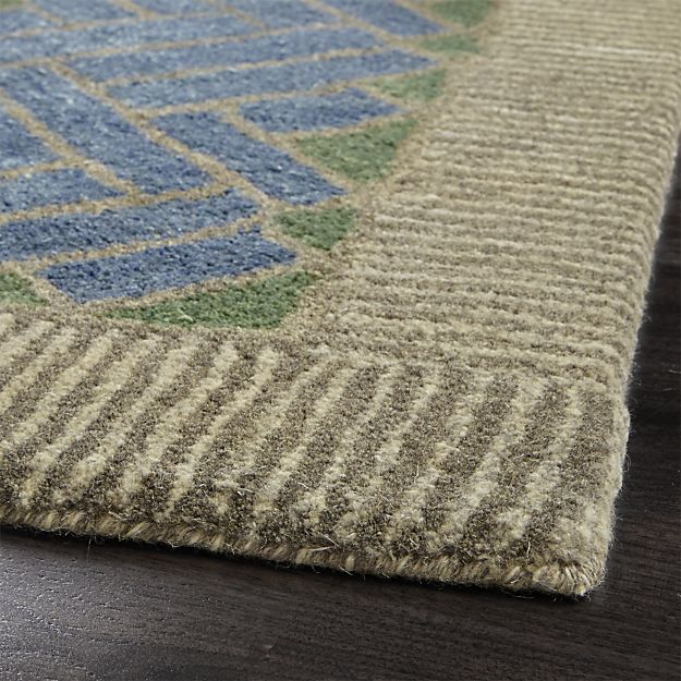 Piven Chevron Wool Blend 8 X10 Rug Crate And Barrel