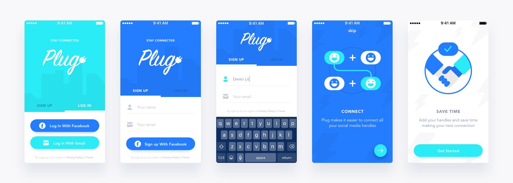 Plug onboarding screens Onboarding, Litvinov, Restaurant app