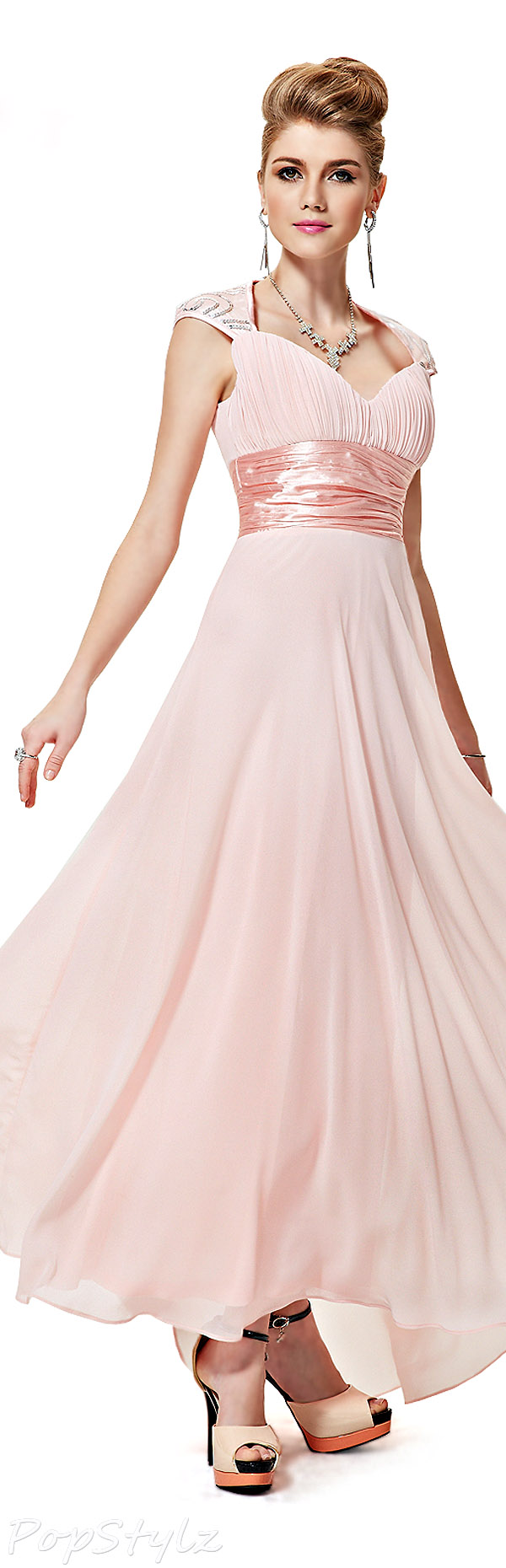 Sweet Pastel Evening Gown would make a lovely wedding dress ...