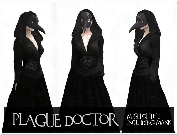 Second Life Halloween 2020 Second Life Marketplace   LOVE   COSTUME   PLAGUE DOCTOR   100
