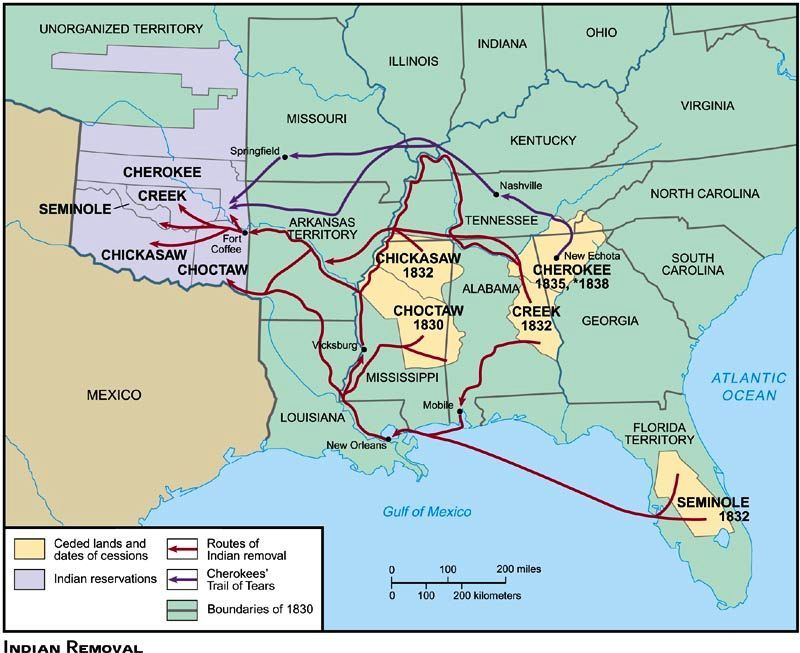 Trail Of Tears Timeline Httpfreepagesgenealogyrootsweb - Highway of tears canada map