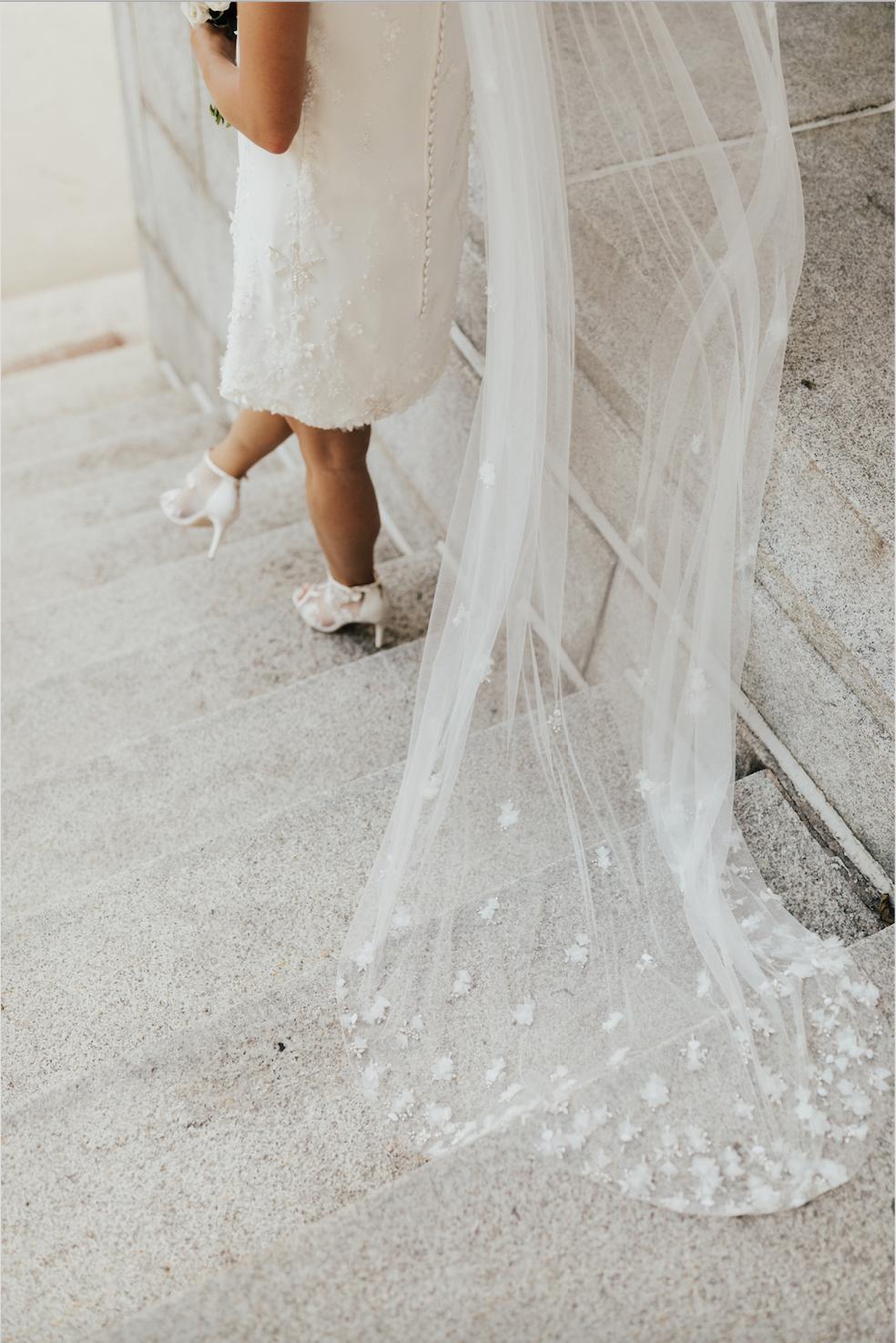 Floating Flowers Veil From Bhldn Photographer Christyljohnston Bride Torimasters Short Wedding Dress Wedding Dress With Veil Wedding Dress Outfit [ 1474 x 984 Pixel ]