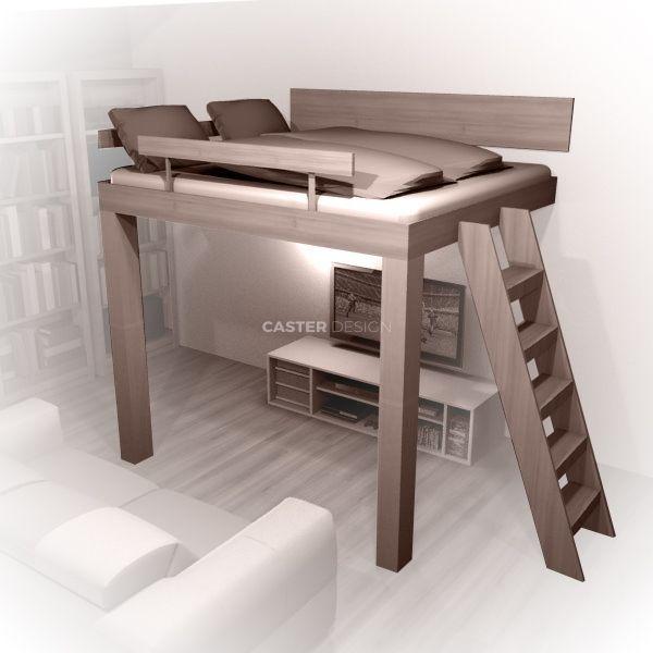 Suspended bed Diy loft bed, Build a loft bed, Dorm room