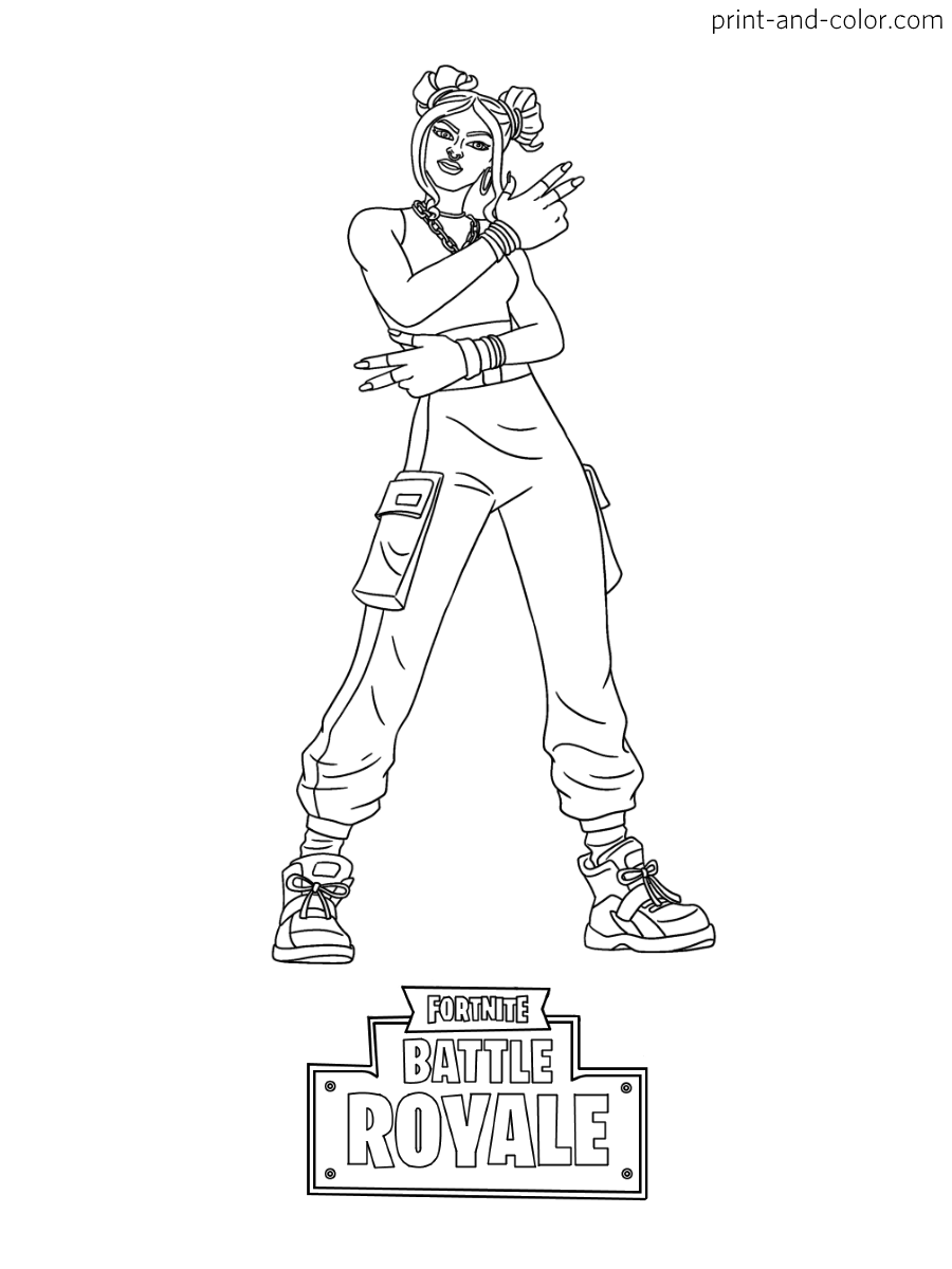 Fortnite | Coloring pages in 2019 | Coloring pages ...