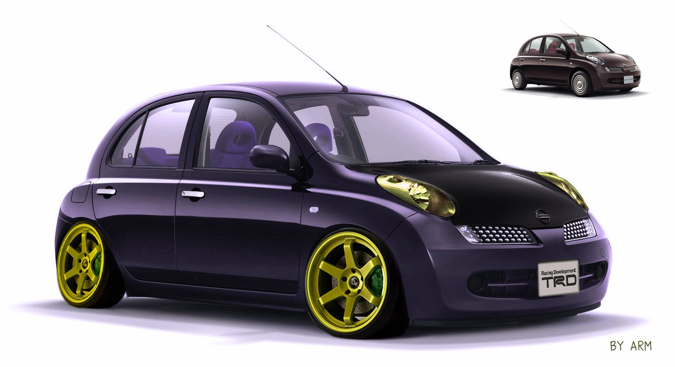 nissan march virtual tuning my micra nissan march. Black Bedroom Furniture Sets. Home Design Ideas