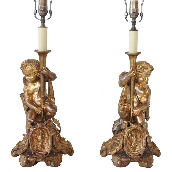 French revival candlestick lamps eron johnson antiques