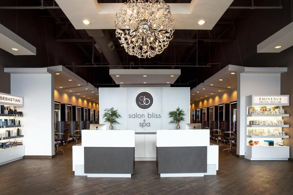 Soty 2015 salon bliss spa salon today front desk for Photos salon design