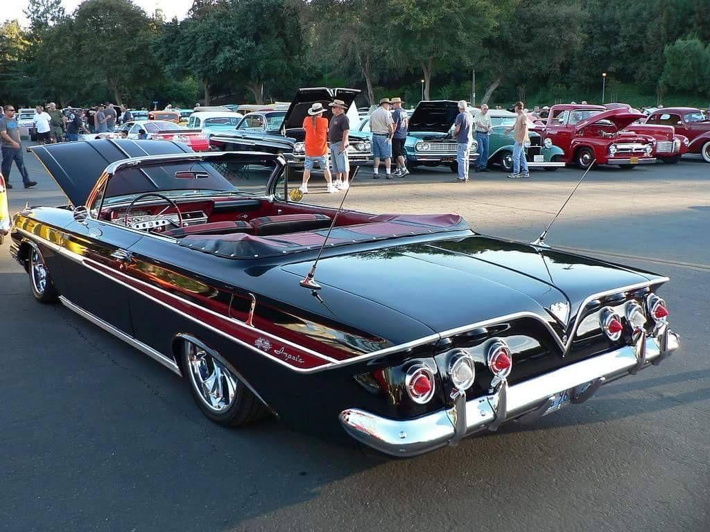 Classic Cars And Women — Wonderful 1961 Chevrolet Impala convertible