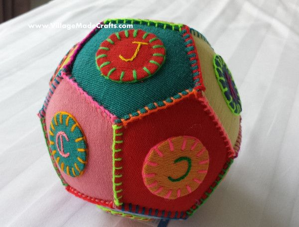 Another beaut product from VillageMadeCrafts - Colourful Cloth Ball. See it at http://villagemadecrafts.com