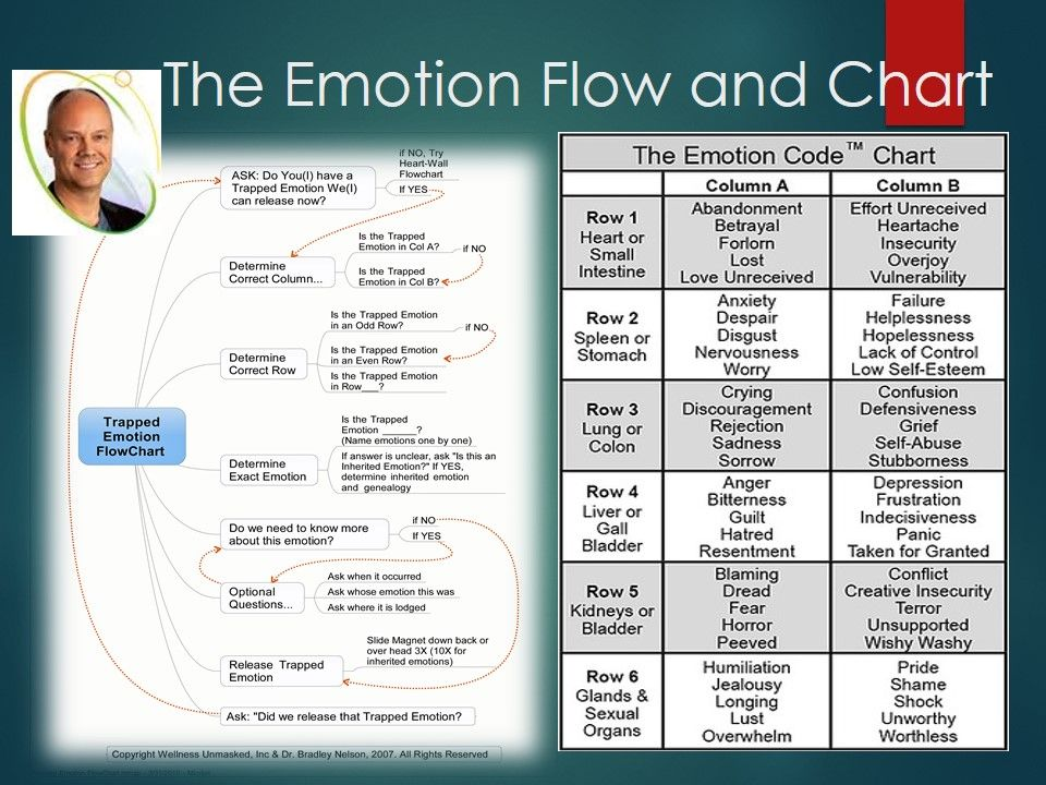 Emotion code chart of emotions and flowchart dr bradley nelson also rh pinterest
