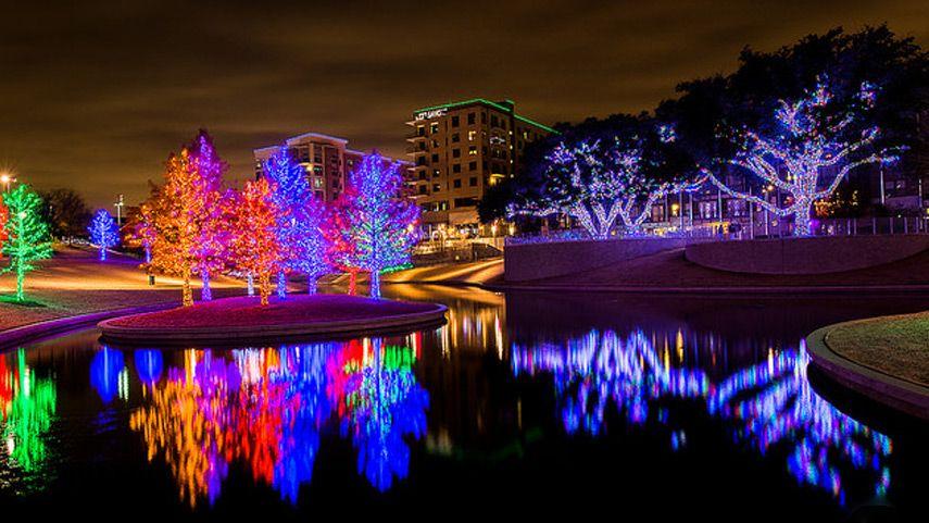 Vitruvian Park® in Addison Christmas light displays