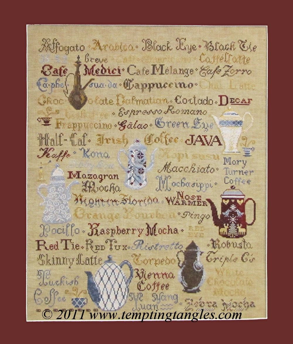 Coffee Compendium --pdf file by TemptingTangles on Etsy