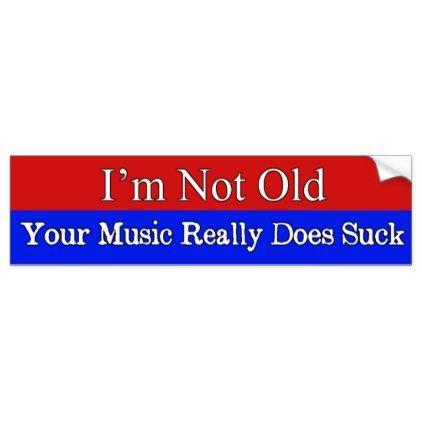 Your music sucks funny bumper sticker craft supplies diy custom design supply special