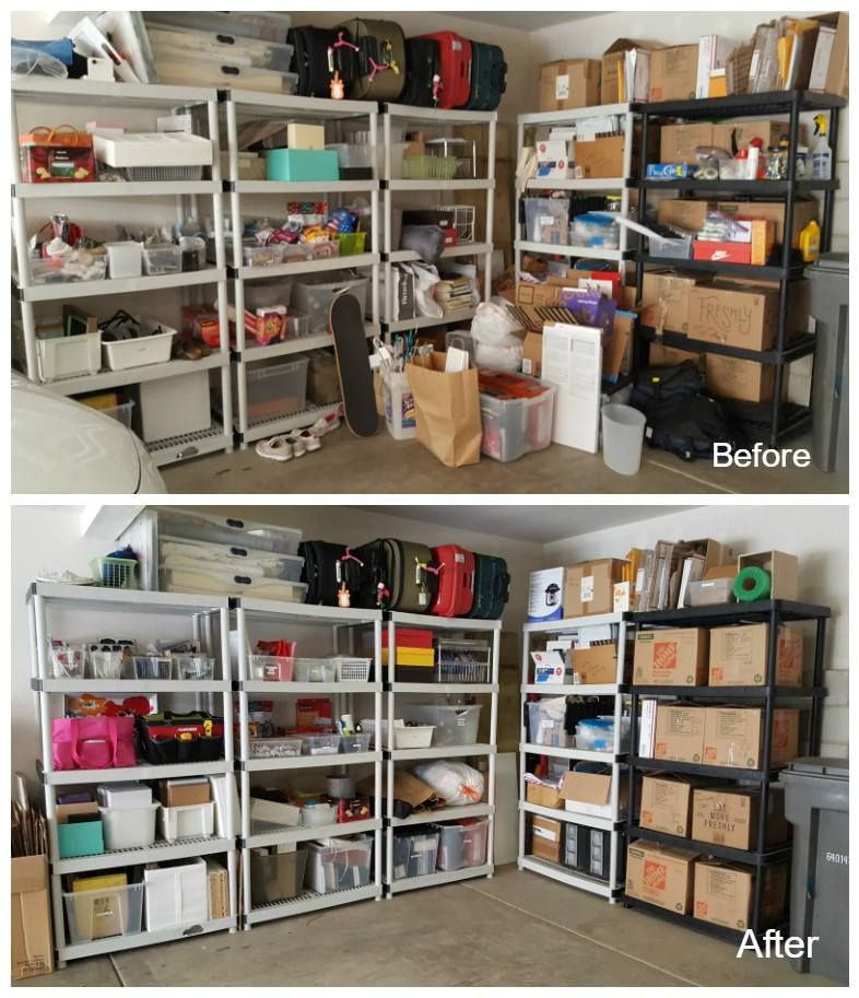 Sunnys Garage Organization Before After Sunny