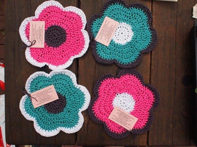 Flowerdishclothremedium2 Crochet House Pinterest