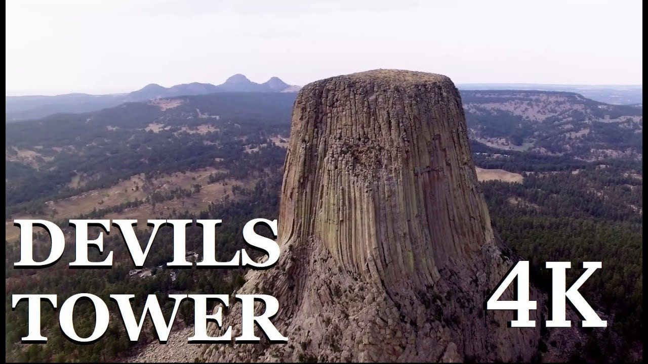 Devils Tower 4k Drone Devils Tower Monument Tower Half Dome