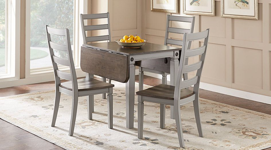 rooms to go dining sets. picture of Velino Gray 5 Pc Rectangle Dining Set from Furniture