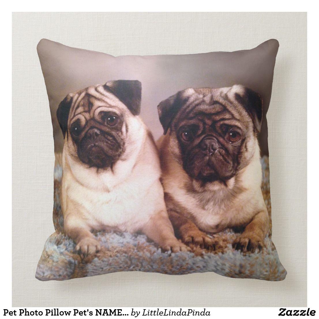 Pet Photo Pillow Pet's NAME Or Unconditional Love