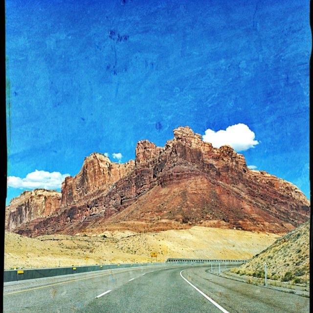 In Utah between I-15N and I-70E. July 2012  iPhone photo taken and edited via Pixlromatic by Michele Snider