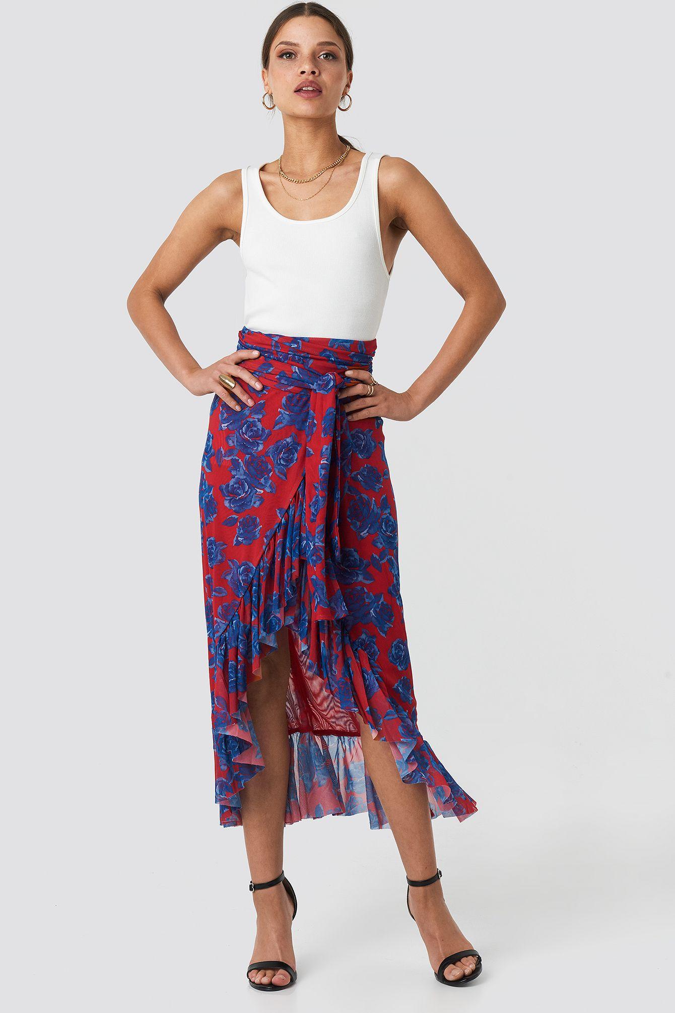 Mesh Overlap Maxi Skirt in 2020 | Modestil, Maxirock, Kleidung