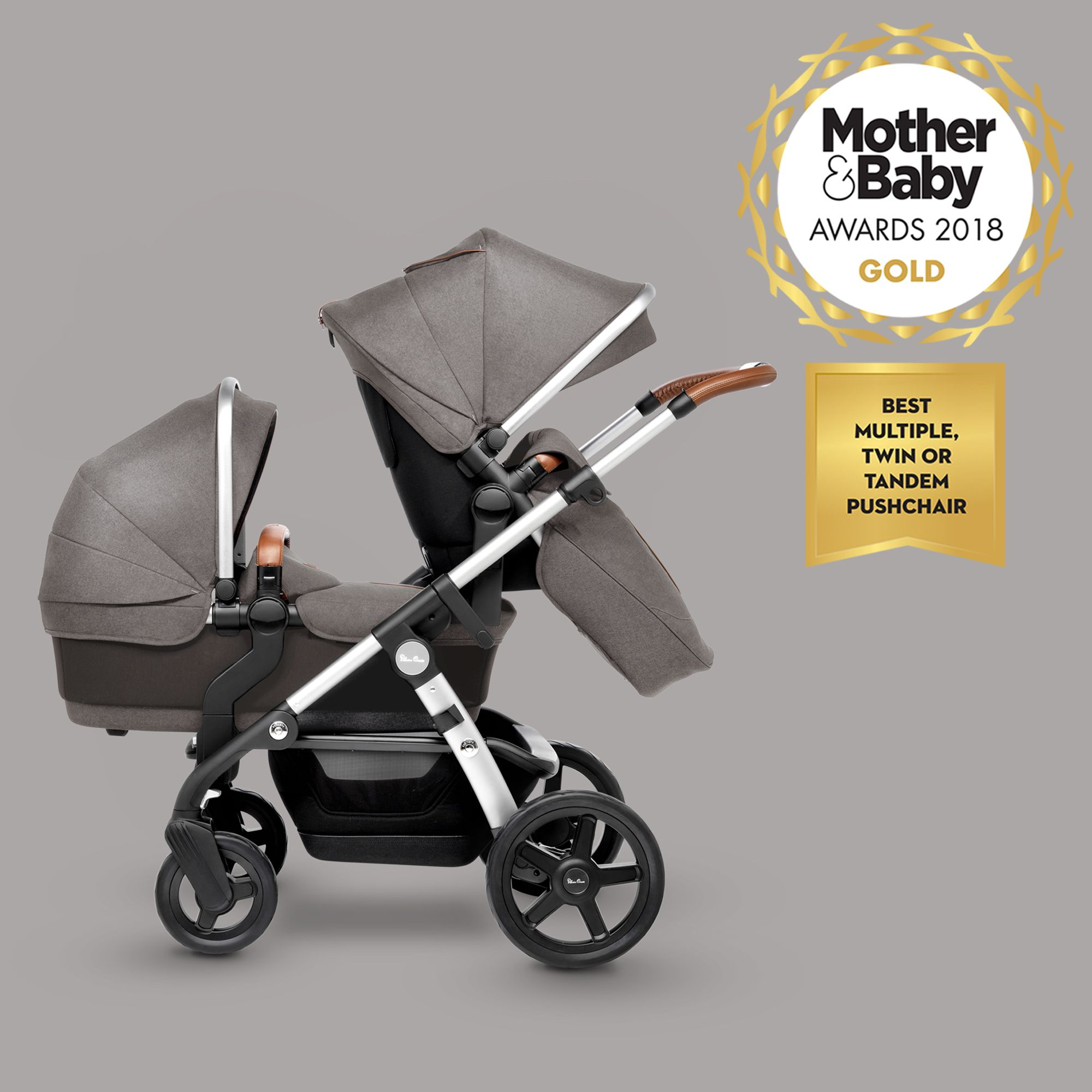 Silver Cross Elegance Buggy Board Wave Sable Best Prams Tandem Prams Pushchair Travel System